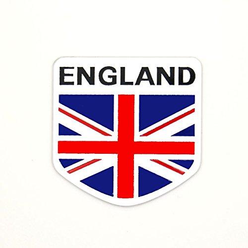 Sticker 3D Flagge England aus Metall für Auto selbstklebend
