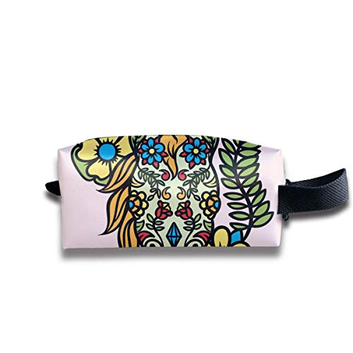 Cartoon Day of The Dead Horse Women Cosmetic Bag Travel Girls Oxford Toiletry Bags Lovely Portable Hanging Organizer Makeup Pouch Pencil Case
