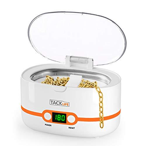 Pulitore ad ultrasuoni, Tacklife MUC02 lavatrice ad ultrasuoni professionale per gioielli per uso domestico da 600ml con 5 tempi per la pulizia di occhiali, orologi, utensili ecc