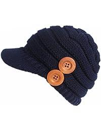 Cap per donna in lana acrilica Vovotrade Cappello invernale da donna  Berretto con visiera a turbante 27ecf1123af4