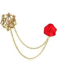 Sukkhi Cufflinks and Shirt Accessories for Men (Red)(LP73247)