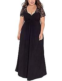 Vestiti Donna Festivo Donna Taglie Forti Eleganti Abito Estivi Vestiti  Cerimonia Vestito Lungo per La Notte a1cc7527af0