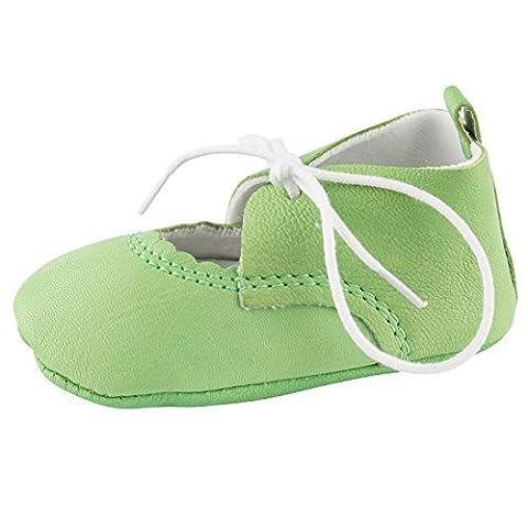 Baby Schuhe Lederpuschen Leder Sandalen Lauflernschuhe Babyschuhe, Baby Farbe:Grün;Babyschuh Größe:10cm