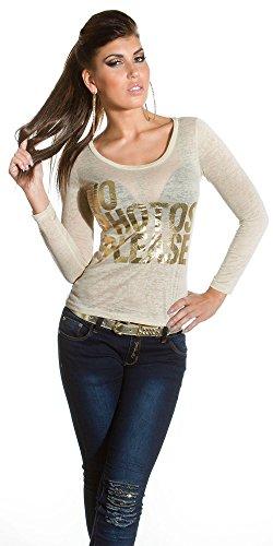 Blanco Store Top à Manches Longues - Femme Beige