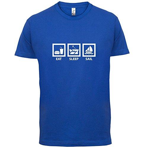 Eat Sleep Sail - Herren T-Shirt - 13 Farben Royalblau