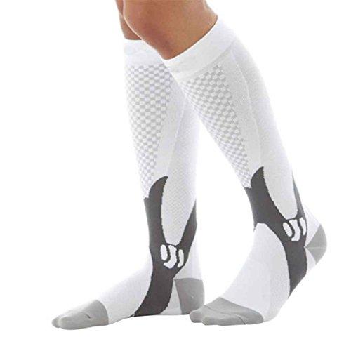 1403426cabb22 Providethebest 1 par unisex de la rodilla de alta compresión Medias de  fútbol largo pata de