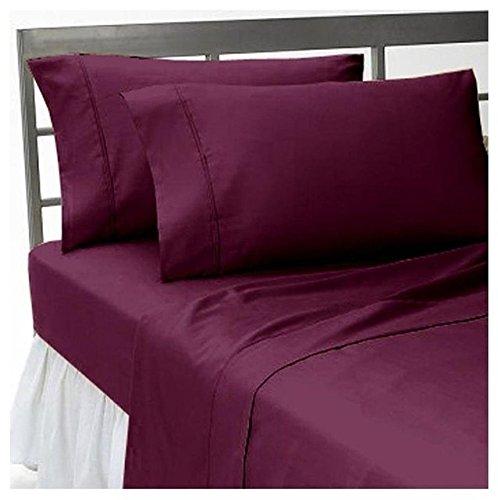 Dreamz Betten Super Weiche Ägyptische Baumwolle 650Fadenzahl UK King Size 1Flacher/Top Tabelle, Wein Massive 100% Baumwolle 650tc Oberfläche Tabelle -