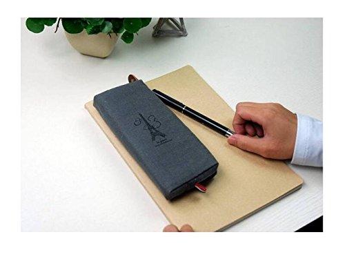 Schulbriefpapier Retro Canvas Paris Federtasche Münzfach Reißverschlusstasche (Grau) Briefpapier-Werkzeug