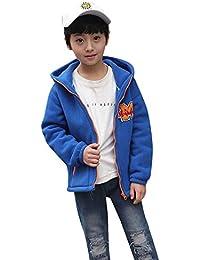 Ropa para niños Chaqueta Abrigada a Prueba,JiaMeng Fleece Hooded Jackets Béisbol Bata Outwear Ropa Abrigada de Viento de Imitación