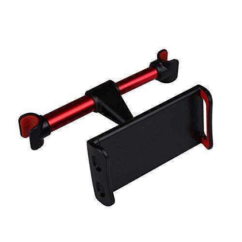 GUDUO EINWEG Compatible Autositz Kopfstütze Halterung und Halter, verstellbare Rücksitz Telefonständer Rotierende Grip Multi-Winkel Auto Halterung für Pad Pro/Air/Mini,Tablets-Red