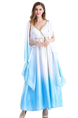 Halloween Kostüm Frauen Ägyptische Königin Kleopatra Griechische Göttin Cosplay Kostüm (Kostüme Ägyptische Königinnen Halloween)