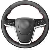 HCDSWSN Cuero Negro de Microfibra Cubierta del Volante para Opel Mokka 2013-2016 Opel Insignia