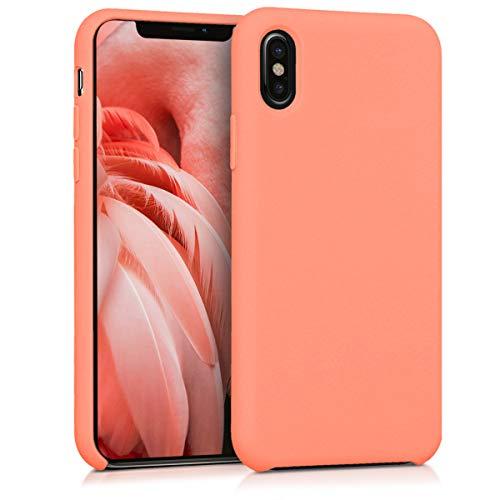 kwmobile Apple iPhone X Hülle - Handyhülle für Apple iPhone X - Handy Case in Koralle