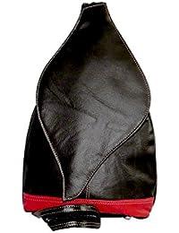 NAZ Unisex Brown Leather Messenger Bag