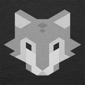 TEXLAB - Simple Wolf - Herren T-Shirt Schwarz