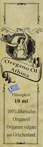Athina Oregano Öl, 100% Premium ätherisches Oreganoöl Origanum vulgare hirtum, aus Griechenland, 80% Carvacrol, 1 X 10 ml. 100% Kundenzufriedenheit Garantie oder Geld-zurück