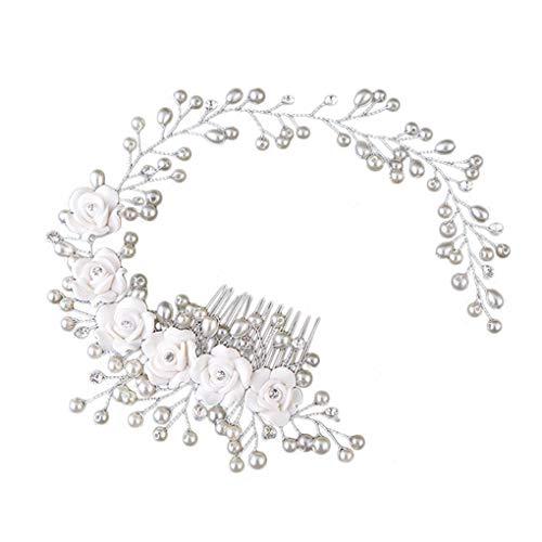 Windy5 Fashion-koreanische Art-Frauen Braut Hochzeit Haarspange handgemachte Blumen-Korn-Dekoration Damen Haarreif Zubehör
