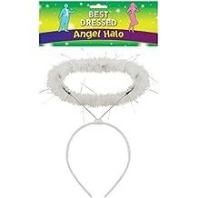 Angel Querubín Blanco Brillante Halo Diadema Belén Navidad Disfraz