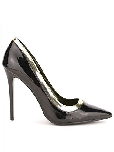 Cendriyon, Escarpin verni Noir WEIDES CHIC Chaussures Femme Noir