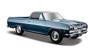 Maisto - 2043039 - Maquette De Voiture - Chevrolet El Camino '65 - Métallique Bleu - Echelle 1/24