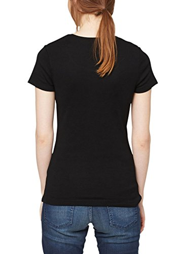 s.Oliver 04.899.32.2728 - T-shirt - Femme Noir (9999)