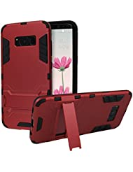 """Coque Samsung Galaxy S8, Rosa Schleife Slim Heavy Duty Armor Coque 2 in 1 Hybrid Hard Back Coque Silicone Housse Rugged Cover avec Kickstand Support Bumper Case pour Samsung Galaxy S8 SM-G950 (5.8"""")"""