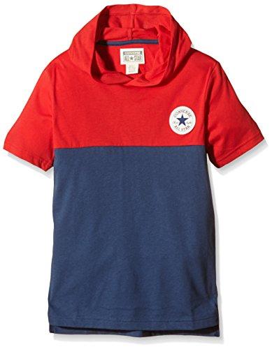 Converse Jungen Kapuzenpullover, Jersey, GR. 14-15 Jahre (Herstellergröße: 13-15 Years), Blau (Converse Navy) (Converse T-shirt Jersey)