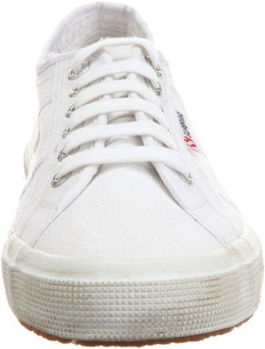 Superga 2750 Cotu Stone Wash, Chaussons Sneaker Adulte Mixte Blanc (White)