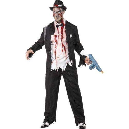 Halloween Herren Kostüm Zombie Gangster blutig Horror Größe -