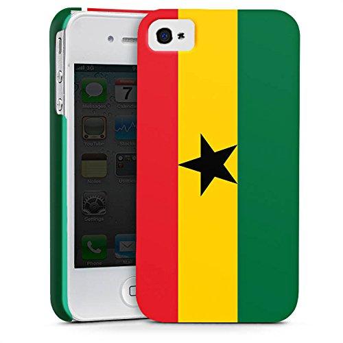 Apple iPhone 6 Silikon Hülle Case Schutzhülle Ghana Flagge Fußball Premium Case glänzend