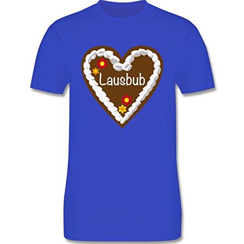 Oktoberfest Herren - Lebkuchenherz Lausbub - Herren Premium T-Shirt Royalblau