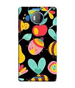 PrintVisa Butterfly Doodle 3D Hard Polycarbonate Designer Back Case Cover for Microsoft Lumia 950 XL :: Microsoft Lumia 950 XL Dual SIM
