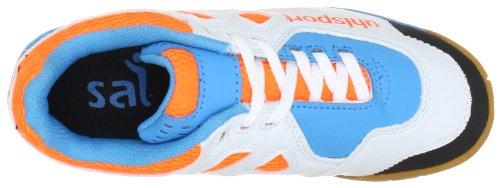 uhlsport LEON Junior 100830701 Unisex - Kinder Sportschuhe - Indoor Orange (orange/flashblau/weiss 01) yxE3YkC