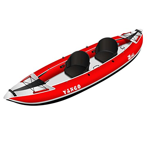 Z-Pro Tango 2 Inflatable Kayak Red - 1 or 2 Person Kayak (Person Inflatable 1 Kayak)