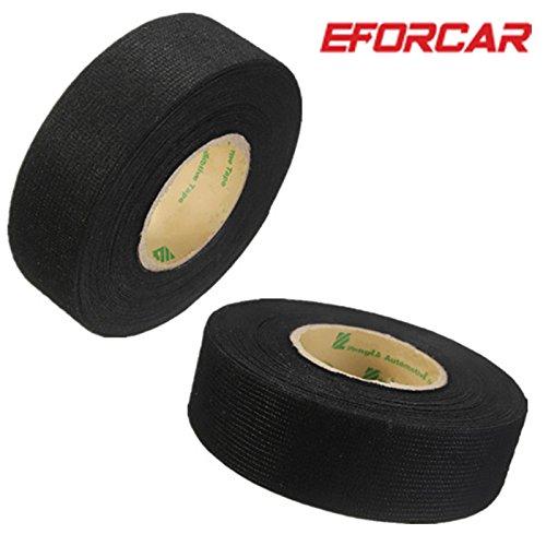 ETGtek(TM) 2pcs Juego de cables cable de cinta resistente al calor adhesivo de tela cinta telares para coche motocicleta