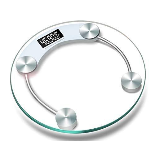 SYLOZ Elektronische Waage Mit USB-Anschluss, Ultradünne Digitale Personenwaage, Oberfläche Aus Gehärtetem Glas (6 MM), Automatische EIN- Und Ausschaltung, Maximales Gewicht Von 180 Kg Gewichtsskala