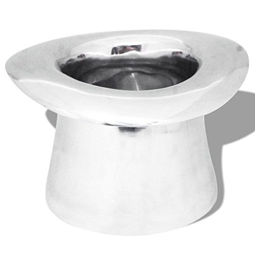 Festnight Champagner-Kühler Weinkühler aus Aluminium Sektkühler Getränkekühler im Hutform Silberfarben 28 x 27 x 16 cm