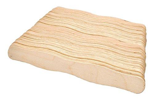 Mandala Crafts 20,3cm Jumbo gewellt Holz Sticks Fan Griffe für Projekte Auktion bieten Paddel Kirche Hochzeit Programm 200 Piece Count