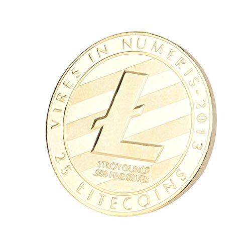 Dekoartikel Münzen,Jaminy 4X Vernickelt Gedenk Litecoin ETH Sammler Gold Eisen Miner MÜNze Geschenk - 7