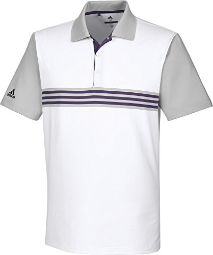 Adidas ultimate3653-Stripes Engineered Polo de Golf Homme...