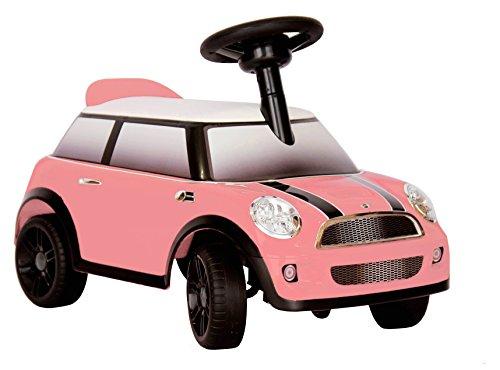 ROLLPLAY Aufsitzfahrzeug mit Sound, Foot-to-Floor, Für Kinder ab 1 Jahr, Bis max. 20 kg, MINI Cooper, Pink
