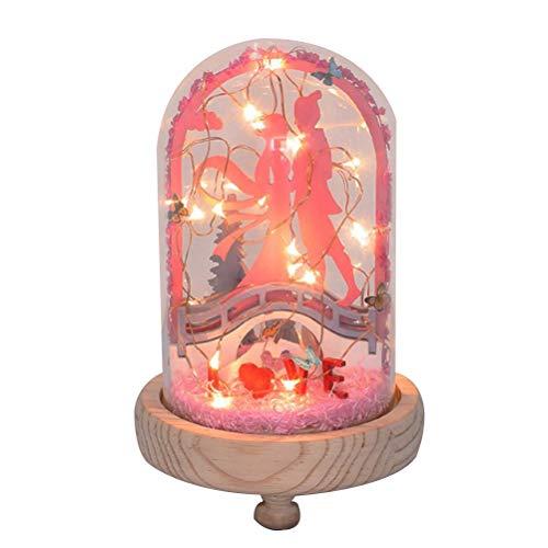 YeahiBaby Glaskuppel Leuchten Weihnachten Snow Globe Christmas Hanging Decoration Ornament