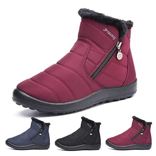 Gracosy Bottes de Neige Femmes Filles, Chaussures Ville...