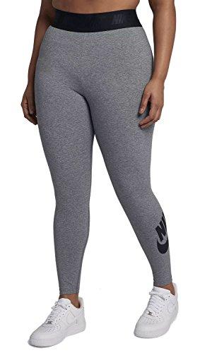 NIKE Leg-A-See Legging Gris(Carbon Heather/Black)