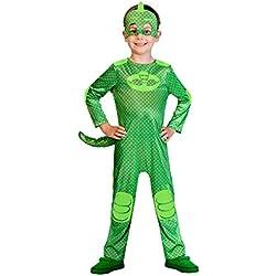 Amscan - PJMASQUES GLUGLU-Gekko - Deguisement - Mixte Enfant - Vert - 5-6 ans, 9902957