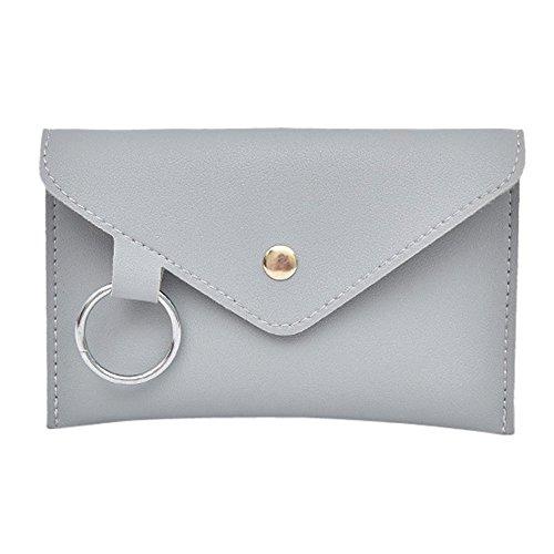 Time COVER Damen Leder-Umhängetasche Handtasche Schultertasche Umhängetasche Messenger Bag Handtasche zum Wandern,Radfahren,Reisen (Grau)