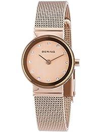 Bering  Classic - Reloj de cuarzo para mujer, con correa de acero inoxidable, color dorado