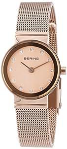 Bering Time - 10122-366 - Montre Femme - Quartz Analogique - Bracelet Acier Inoxydable Or et Rose