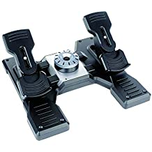 Logitech G Saitek Pro Flight Instrument Panel - Black (Refurbished) Rudder pedals Black