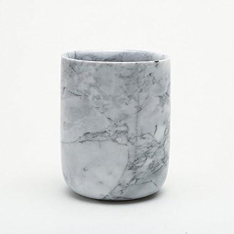 Supports et distributeurs sanitaire Série rétro rinçage Tasse Naturel Marbre Bol Admettre Tasse Tasse de rinçage support pour